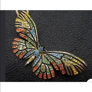 🎉BETSEY JOHNSON BUTTERFLY COLORFUL NECKLACE/ PIN